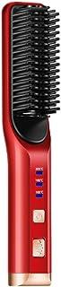 XDXDO plattång för hårrätare jonisk plattång borste uppvärmning utjämningsborste med värmebeständig handske och temperatur...