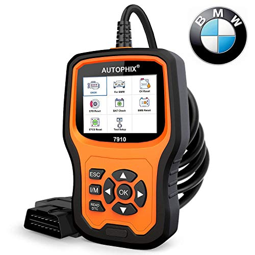 AUTOPHIX Auto Diagnosegerät für BMW Mini, 7910 KFZ FehlerCode Auslesegerät Auto Diagnosewerkzeuge Diagnose Gerät Fahrzeug Diagnose Scanner Werkzeug für OBD II/EOBD Protokoll Autos PKW