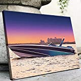 VYQDTNR - Wall Art Canvas Home Art Decorations Abstract Miami Vice Scarab Canvas Mural Living Room, Bedroom-1 Piece Wall Decorations Framed Artwork