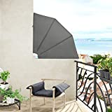 Jago Set of Two Balcony Awnings in different colours and sizes (Dark gray, M)