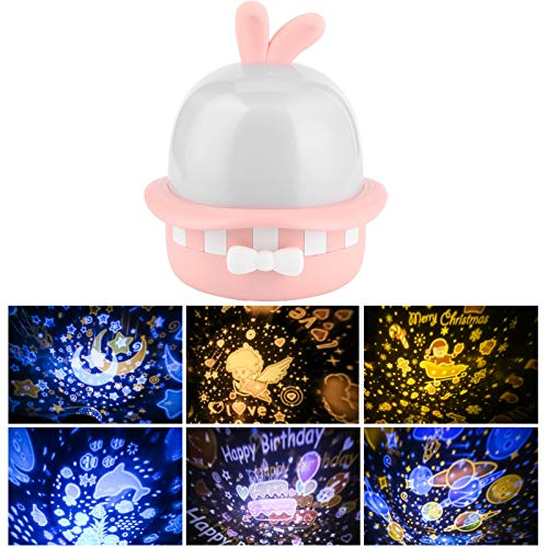 Decorative Lamp, Cute Music Box, ‑Shape with Music USB Charging for Home Bedroom Party Decoration Kids Holiday Christmas Gifts Girl(Pink, Pisa Leaning Tower Type)