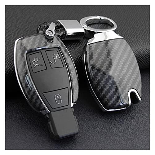SHUAI Caja de la cadena de la cadena de la llave de la llave de la llave de la fibra de carbono FOB Ajuste para Mercedes-Benz W205 W212 x253 W166 x204 x166 W176 W246 W204 W222 W463 x156 W222 W463 X156