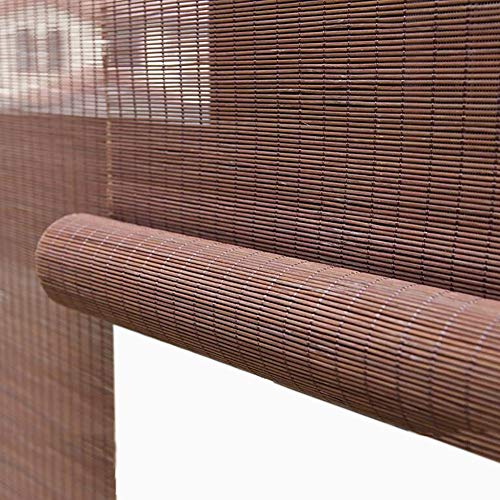 Verdunkelungsrollos, 50% Lichtfilterende Bambusrollos, 100cm/ 110cm/ 120cm Breit, Unterstützung Nach Maß (Size : 110×180cm(W×H))