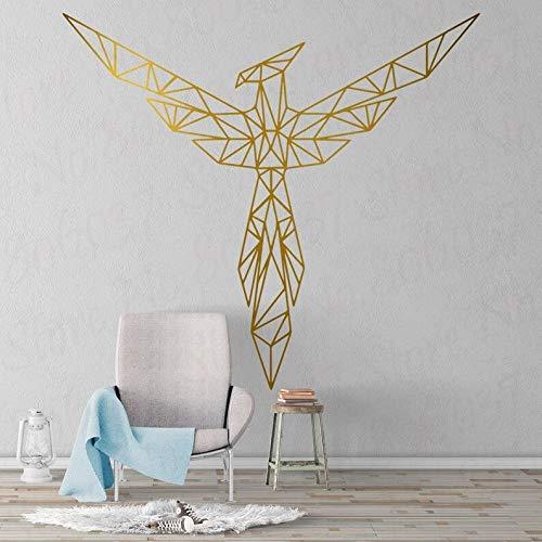 Geometrische Phoenix Aufkleber Wandaufkleber Kunst abnehmbare Wandtattoo Wohnzimmer Tapete Schlafzimmer Dekoration 42X39CM