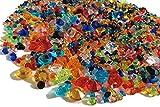 Crystal King, 2.000 strass decorativi colorati, pietre glitter da 11, 5 e 3 mm, decorazion...