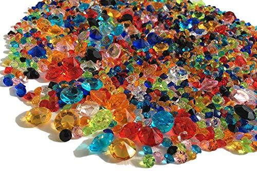 2000Streudeko diamantes multicolor 11mm + 5mm + 3mm gltzer piedras mesa decoración con brillantes para decorar piedras decorativas de Crystal King
