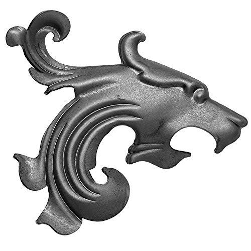UHRIG ® - Leewadee - Adorno de hierro forjado para rejas de ventanas, vallas, etc. hierro forjado