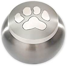 Beautiful Life Urns Pawsitively Cherished Pet Urn - Unique Cremation Urns for Pets, Large, Slate