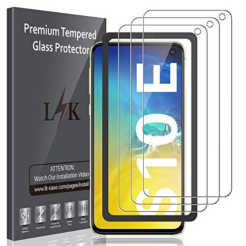 LK [3 Pack] Vetro Temperato per Samsung Galaxy S10e, [Installazione Semplice Cornice allineamento] Protezione Schermo Pellicola Protettiva [Anti-Scratch] Screen Protector
