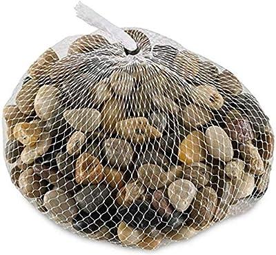 2 Pounds River Rock Stones - Natural Polished, Pebbles, Outdoor Decorative Stones, Natural Gravel, For Aquariums, Landscaping, Vase Fillers, Succulent, Tillandsia, Cactus pot, Terrarium Plants