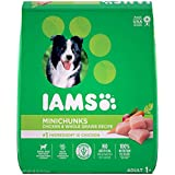 IAMS Proactive Health Adult Minichunks Small Kibble High Protein Dry Dog Food with Real Chicken, 30 Lb Bag