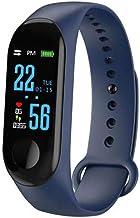 Slimme Armband_Smart Band Bloeddruk Monitor Waterdichte Smart Polsbanden Smartband Fitness Tracker Horloge Blauw Blauw