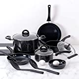 Fleischer & Wolf Aluminum Black Nonstick Cookware Set (10-Piece)...
