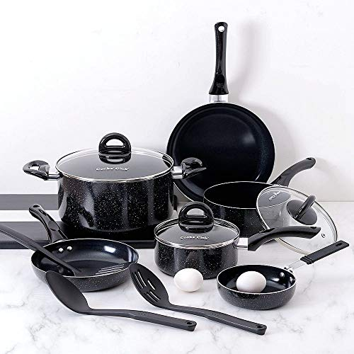 Oprah Suggested Her Favorite Things - Fleischer & Wolf Seville Series Cookware Set (10-Piece) - Tri-ply Hammered Stainless Steel Copper-Oven...