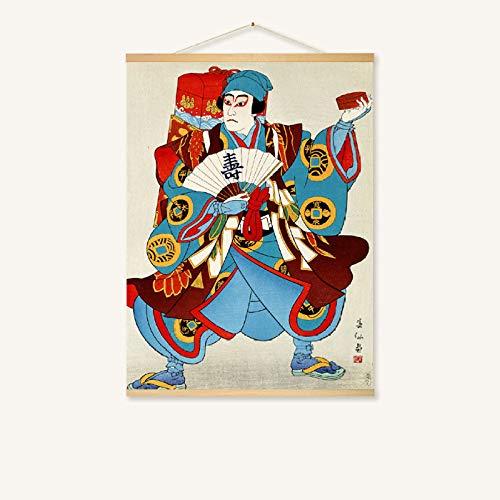 mmzki Hängende Malerei Japanisches Restaurant Wandmalerei-Rollenmalerei 228-L 80 * 60