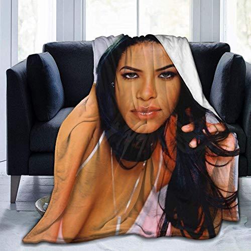 Tengyuntong Manta de Microfibra Ultra Suave Aaliyah DaHaughton Warm para sofá, Cama, Rodilleras de Oficina, Cama, Coche, sofá de Campamento, Felpa acogedora de 50 'x 40'