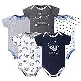 Hudson Baby Unisex Cotton Bodysuits, Little Explorer, 9-12 Months