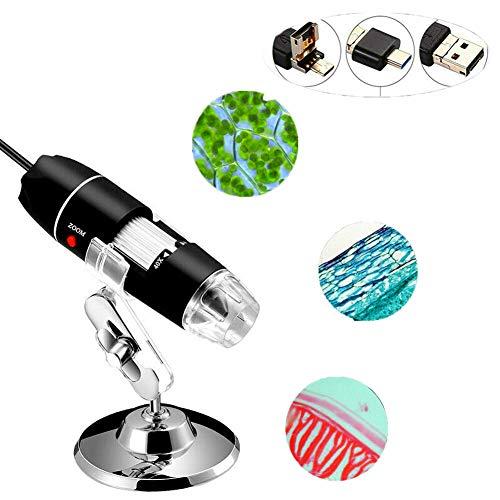 WISREMT Microscopio Digital 8 LED Pocket USB Microscopio