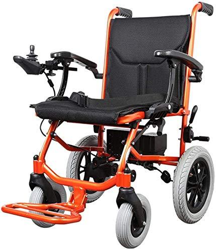 ROLLSTUHL Elektrisch Rollstuhl Roller Gehhilfe Aluminiumlegierung Rahmen Faltbar Pflegestuhl Passend Für Alter Mann Behindert Zerebralparese Beinstörungen Intelligent/Orange / 64×95.5×87cm