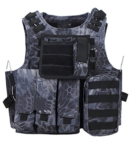 ThreeH Chaleco táctico Equipo Militar Modular Chaleco Prote