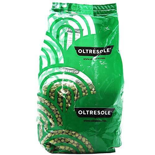 Oltresole - Fagioli Azuki Verdi Biologici 350 g - legumi secchi bio da coltivazione controllata, ottimi per preparare zuppe, insalate o altre ricette vegane o vegetariane