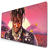 R.I.P. Juice-Wrld-Legends Never Die Mousepad Gaming Mouse Pad Keyboard Ergonomic Mat Gamepad with Stitched Edge Wrist Support Rests Large Mouse Pad for Pc Computer Laptop 15.8x29.5 in