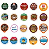 Crazy Cups Coffee Variety Pack Sampler, Assorted Single Serve Coffee Pods for Keurig K Cups Coffee Makers, 20 Unique Cups - No Duplicates