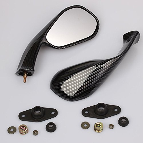 2X Specchio Retrovisori Carbon Look Compatibile Per Aprilia RS 50 125 250 Extrema/Replica