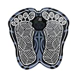 Electric Foot Massager Mat,EMS Foot Massager Machine,Pulse Foot Massager,Full Automatic Foot Massager,Rechargeable Portable EMS Massage Smart Foot Pad,Vibration Physiotherapy 31CM