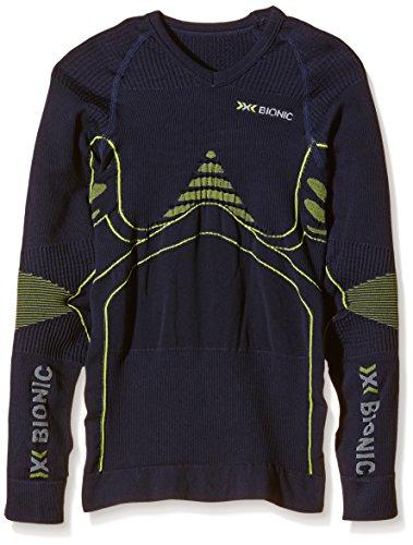 X-Bionic t-Shirt imperméable pour Adulte en Junior Accumulator UW LG SL Multicolore Blue Marine/Yellow 10/11