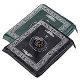 Hitopin Portable Colore Nero Muslim Preghiera Tappeto con Bussola da Tasca Prayer Mat Ompass Qibla Finder Manuale con Materiale Impermeabile hpuk-pmbk