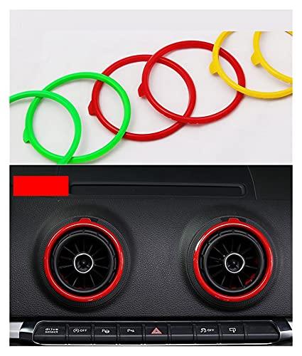 Shenghao Yige Store Ajuste para Audi A3 / S3 / RS3 Sedan 8V Sline Quattro CA AC Sportback Air Outlet Modifi Reemplazo Cubierta de Anillo Decorativo 2013-2015 Deporte (Color Name : Red)