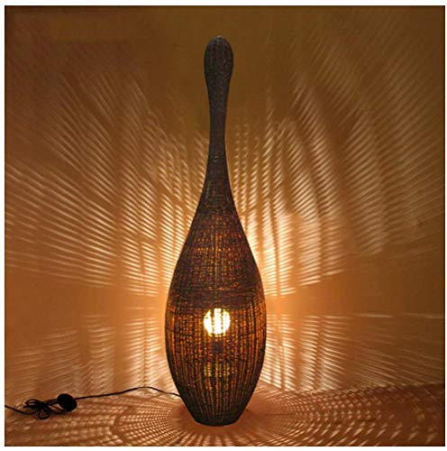 Chinese Retro Vloerlamp Woonkamer Hotel Villa Leisure Club Creatieve Bo ing Rotan Lamp Vloerlamp