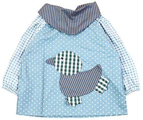 SUNNY JU Unisexe Tablier Enfant Garçon Fille Blouse Peinture Bébé Imperméable Bavoir Manche Longue Imprimé le Dot Animal Mignon 6-12 Mois Bleu