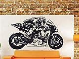pegatinas de pared y murales Moto Gp Valentino Rossi Moto Gp Póster Motociclismo Motocicleta Decal Racing