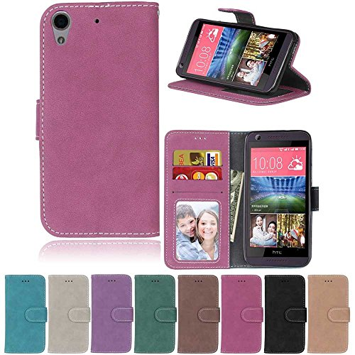 XYX HTC 626 Case,[Rose][Scrub Series] PU Leather Flip Folio Kickstand Wallet Case with Card Slots for HTC Desire 626 626S 626G 626G+