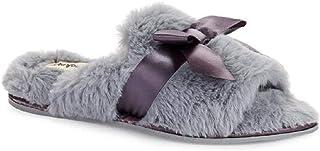 Dearfoams Women's Slippers - Clog Style Geometric Pattern Faux Wool