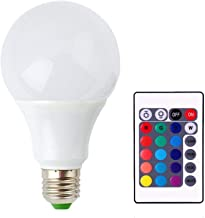 RGBW Led Bulb with IR Remote Control - 9 Watts - Base E27