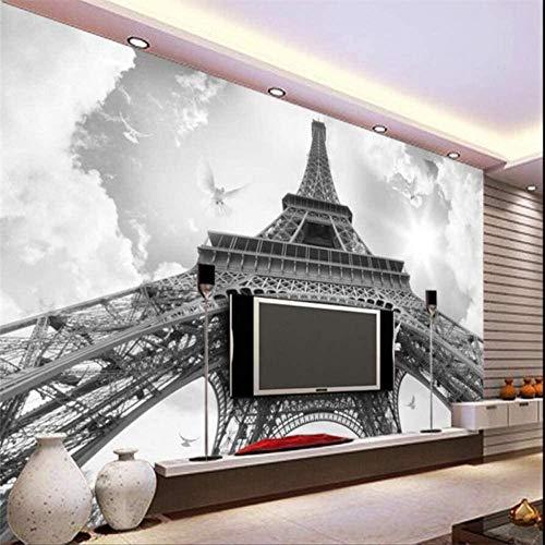 RTYUIHN Carta da parati 3d Carta da parati Torre Eiffel colomba soggiorno camera da letto soggiorno decorazione decorazione della casa decorazione moderna di arte della parete