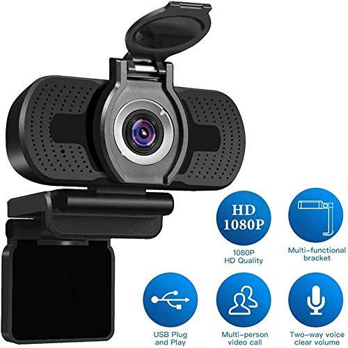 GuoYq Webcam 1080P, Incorporado Reducción De Ruido Micrófono Cámara Web USB Cámara Web 1080P para Juegos para Lecciones En Línea Computadora De Escritorio Cámara