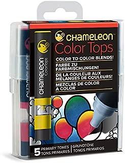 Chameleon Art Products Color Tops, Primary Tones 5-Pen Set