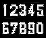 Números termoadhesivos termoadhesivos para camiseta de béisbol, color blanco