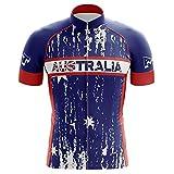 HIRBGOD Team Australia Ride Gritty - Camiseta de ciclismo para hombre, Australia, 6XL