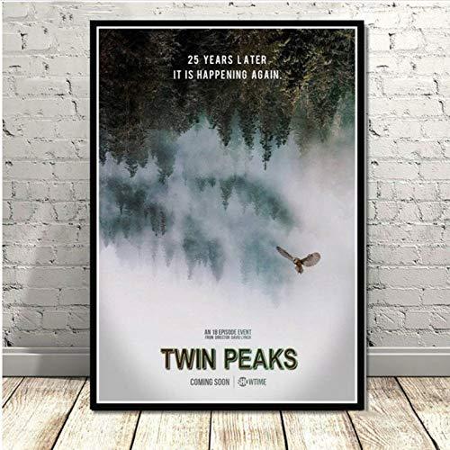 Affiche Et Impressions Twin Peaks TV Series Montre Classique Film Anime Toile Peinture Art Mur Photos pour Salon Décor À La Maison 50 × 70 Cm sans Cadre