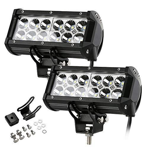 Bande Lumineuse De Travail à LED, Bande Lumineuse Projecteur De Voiture Tracteur 6000k Ip68 12v-24v étanche, 2x 36w