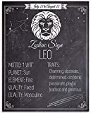 Zodiac Sign Leo, The Lion - 11x14 Unframed Art Print - Great Birthday Gift Under $15 for Astrology Enthusiasts