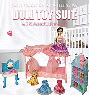 Huang Cheng Toys Doll Set Toy Princess Bedroom Set Two Sisters Doll Luxurious Princess Bed Diversified Toy Accessories for Wholesale(Clothes are not Fixed in Style)