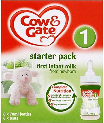 Cow & Gate First Infant Milk Newborn Starter Pack (12x90ml) - Paquet de 6