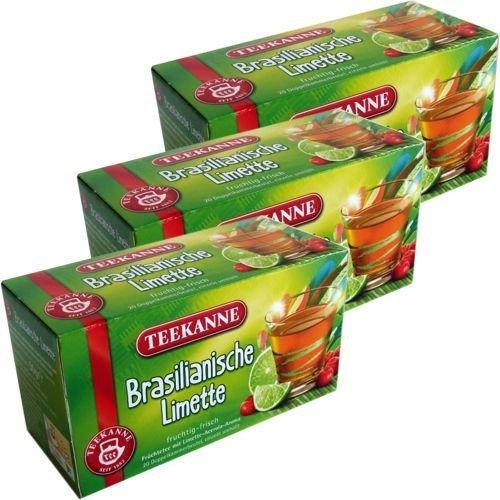 Teekanne Früchtetee brasilianische Limette 3 x 20x3g