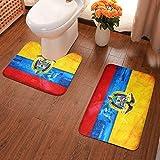 Lindsay Gosse Juego de alfombras de baño de 2 Piezas Bandera Colombiana Alfombras De Baño, Juegos De Contorno para Bañera, Ducha Y Baño